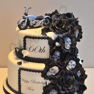 Skull&Roses birthday cake  <3