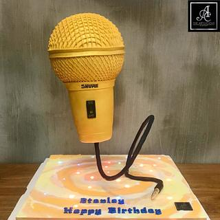 Microphone Defying Cake