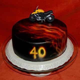 Cakes with motorrad BMW