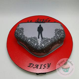 50 Shades of Grey Bachelorette Cake