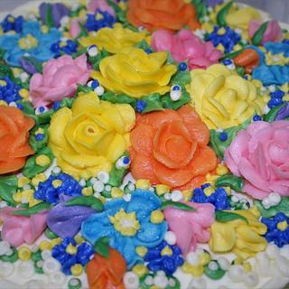 buttercream dream floral cake