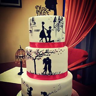 Lovestory wedding cake