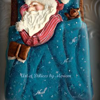 Sleeping Santa... - Cake by artetdelicesbym
