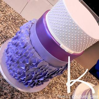 Purple Ruffles, Shine and Swiss Dots