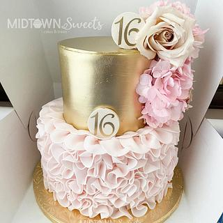 Sweet 16 Birthday Cake - Cake by Midtown Sweets