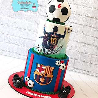 Barcelona Messi cake - Cake by Cakeaholic22