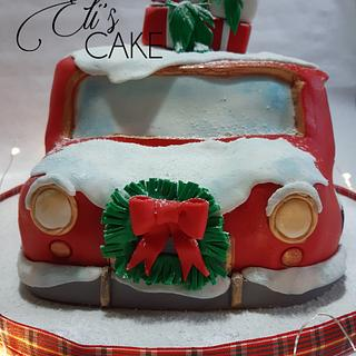 Christmas Car Cake - Cake by Elisabetta Pepe