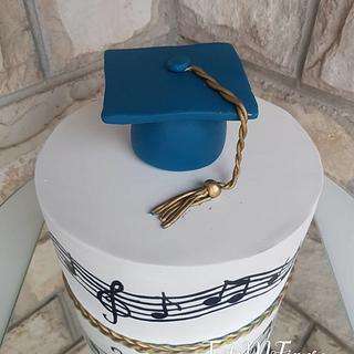 Music graduation cake💙💙💙