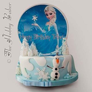 Frozen/Fifa cake