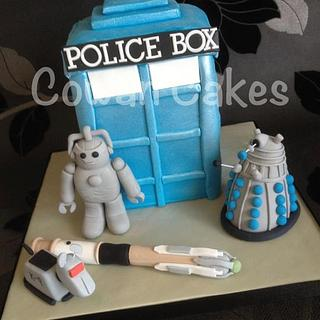 Dalek cake from Dr Who