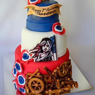 Les Miserables Cast Party Cake