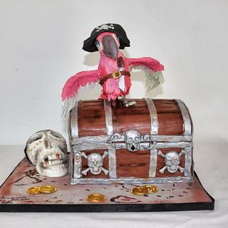 Pirate Cake  _ Treasure chest cake