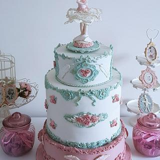 Musical and rotating ballerina cake