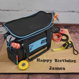 Electrician's tool bag and tools - Cake by Cake Of The Art