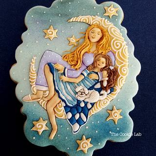 Mom and daughter!     (oil painting into a cookie) - Cake by The Cookie Lab  by Marta Torres