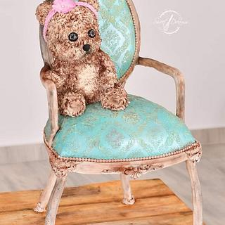 3d shabby chic chair