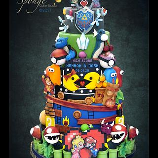 Game wedding cake