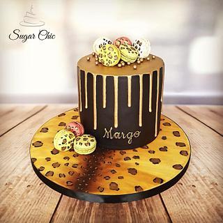 x Leopard Print Drip Cake x