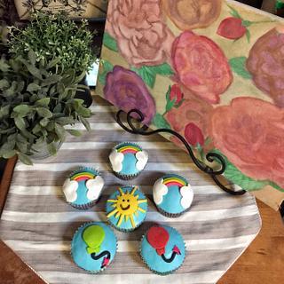 Sunshine and Rainbow cupcakes