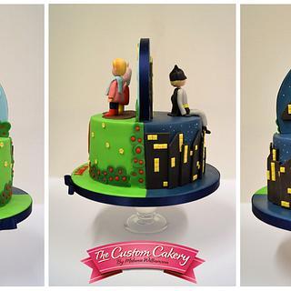 Peppa and Batman - Cake by The Custom Cakery