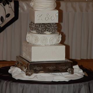 White Wedding Cake for my little Brother