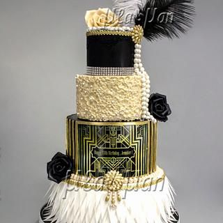 The Great Gatsby Theme Cake