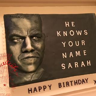Matt Damon cake