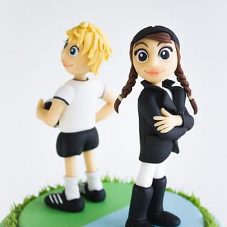 The soccer player and the rider - Cake by Lydia ♥ vertortelt.de