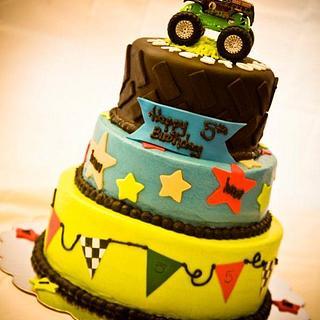 Monster Truck Birthday - Cake by Dawn Henderson