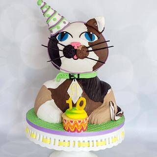 Here kitty kitty - Cake by Anchored in Cake