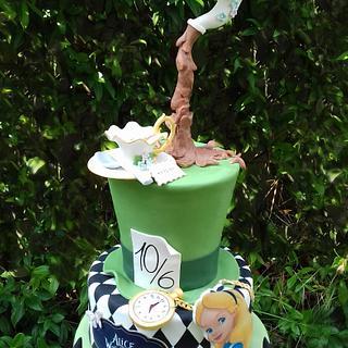 Torta Alice nel paese delle meraviglie - Alice in wonderland cake