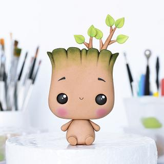 Cute Baby Groot Cake Topper