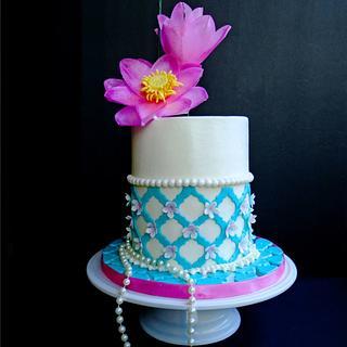 Lotus & Tiffany for Mom - Cake by TrudyCakes