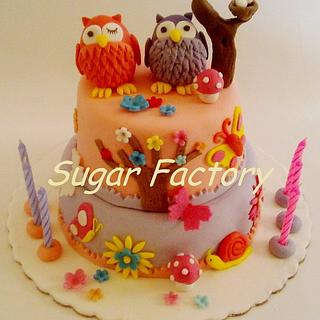 Owls cake and cookies