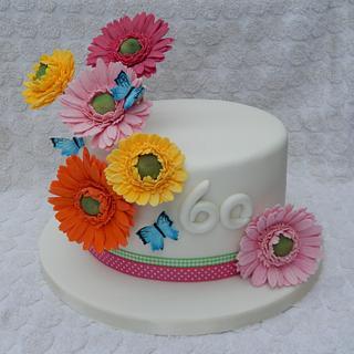 Little Gerbera Flower cake