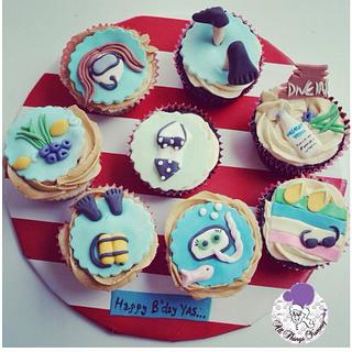 Diving cupcakes! - Cake by All Things Yummy