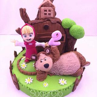 Masha&the Bear - Cake by SugarClo