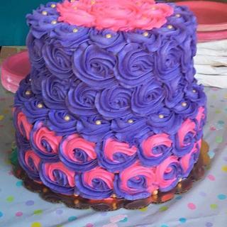 Pink/Purple Rosette