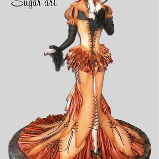 Masquerade Lady Cake - Cake by Cecilia