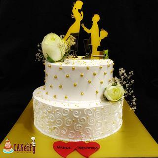 Wedding cake - Cake by Nikita shah