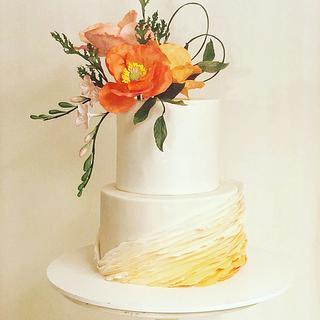 A silver anniversary cake.