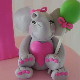 Elephant 1st Birthday Cake - Cake by Amanda