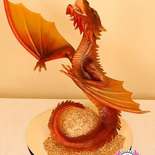 The Desolation of Smaug Dragon Cake