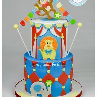 Circus Themed Children's Birthday Cake