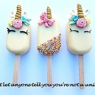 Unicorn cake popsicles  - Cake by Dawn Wells