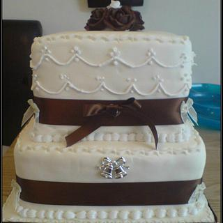 My 1st Tiered Cake - Just happened to be my sisters wedding cake!
