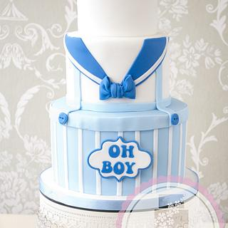 Little Sailor Baby Shower Cake by Windsor Cake Studio