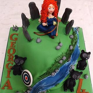 """Georgia's """"Brave"""" cake... - Cake by BakedByBecky"""