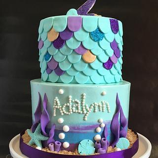 Mermaid Watercolor cake