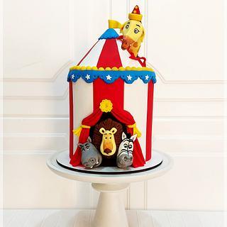 Circo de Madagascar - Cake by Piu Dolce de Antonela Russo